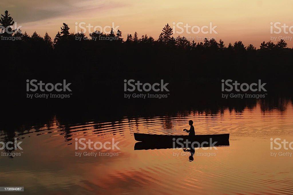 Sunset Paddle royalty-free stock photo