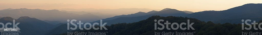 Sunset Panorama from Newfound Gap royalty-free stock photo