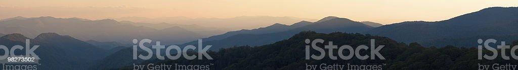 Sunset Panorama from Newfound Gap stock photo