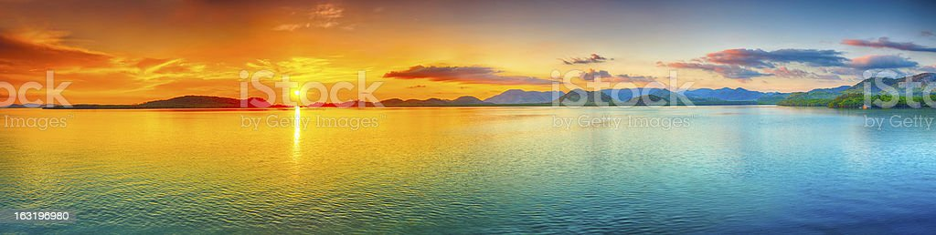 Sunset panorama royalty-free stock photo
