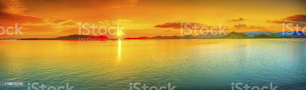 Sunset panorama stock photo