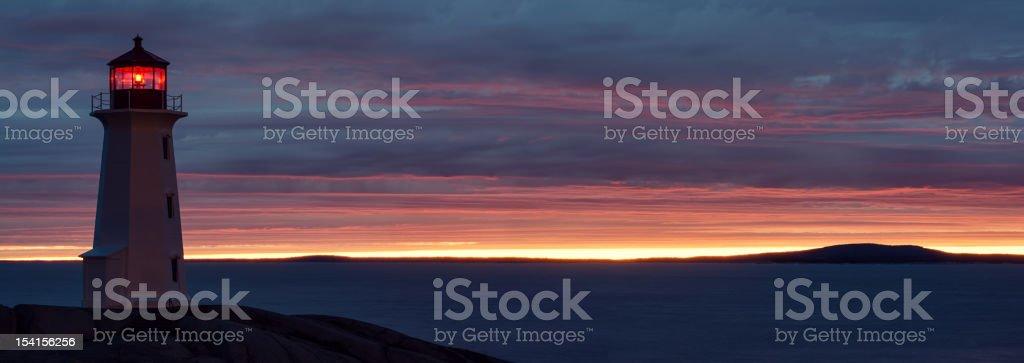 Sunset Panoramic stock photo
