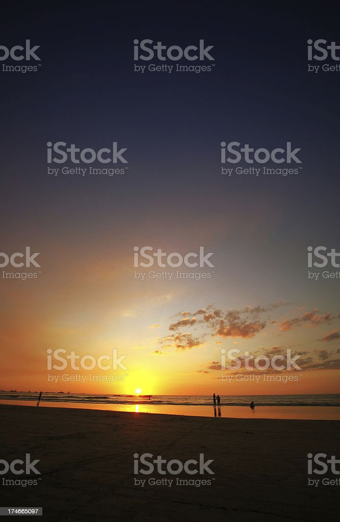 Sunset People royalty-free stock photo
