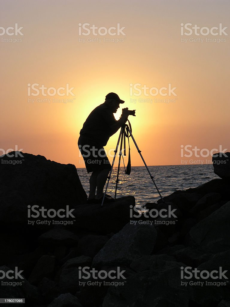 Sunset photographer. royalty-free stock photo