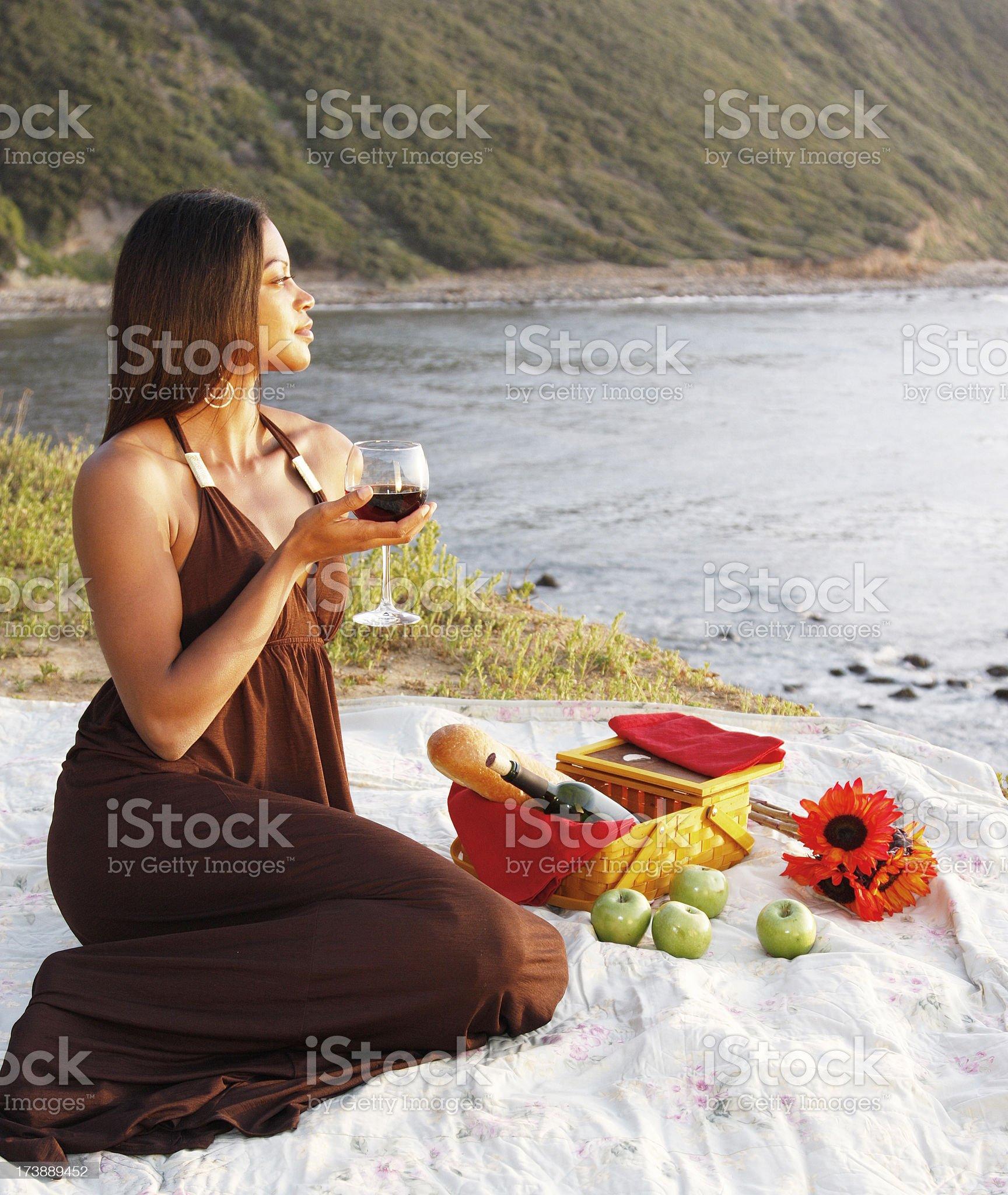 Sunset Picnic royalty-free stock photo