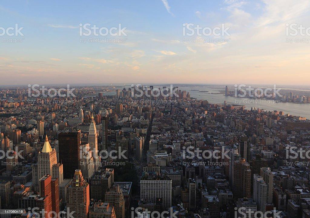 NYC Sunset royalty-free stock photo