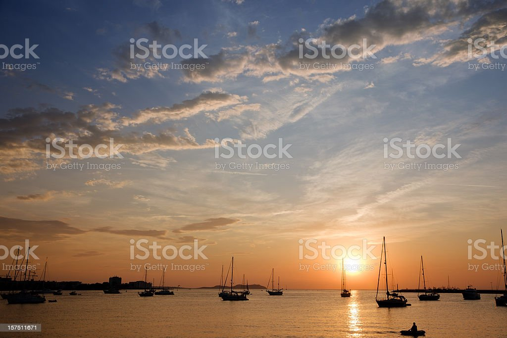 Sunset (Ibiza) stock photo