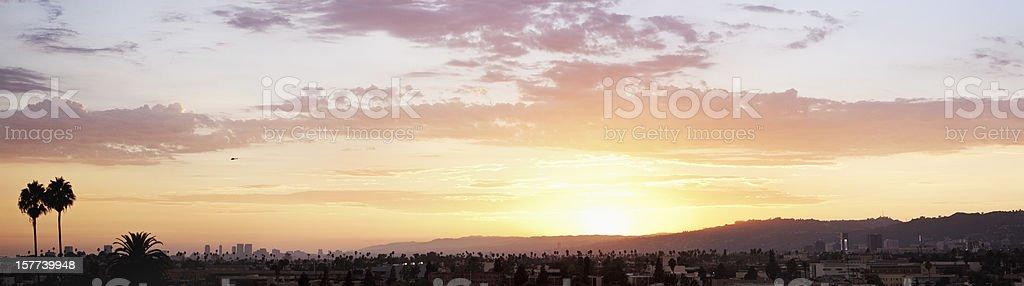 LA Sunset stock photo