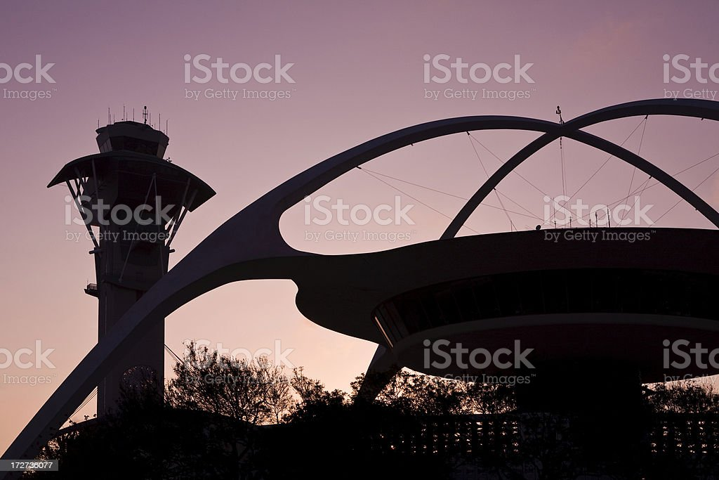 LAX sunset royalty-free stock photo