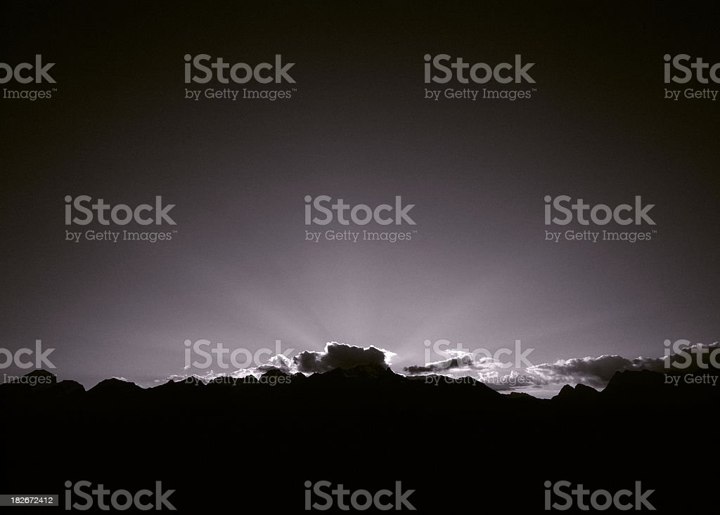 Sunset. stock photo