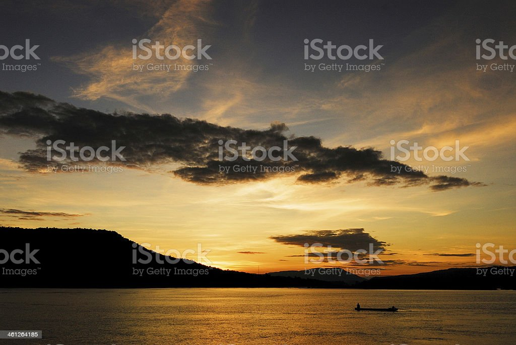 Zachód słońca zbiór zdjęć royalty-free