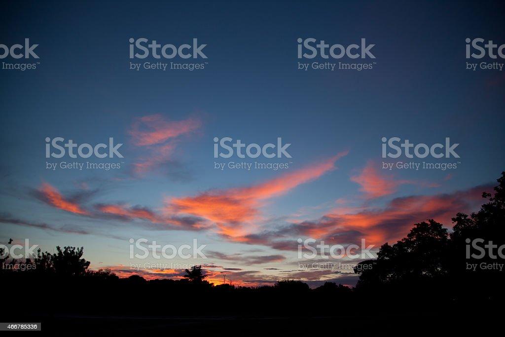 Закат солнца Стоковые фото Стоковая фотография