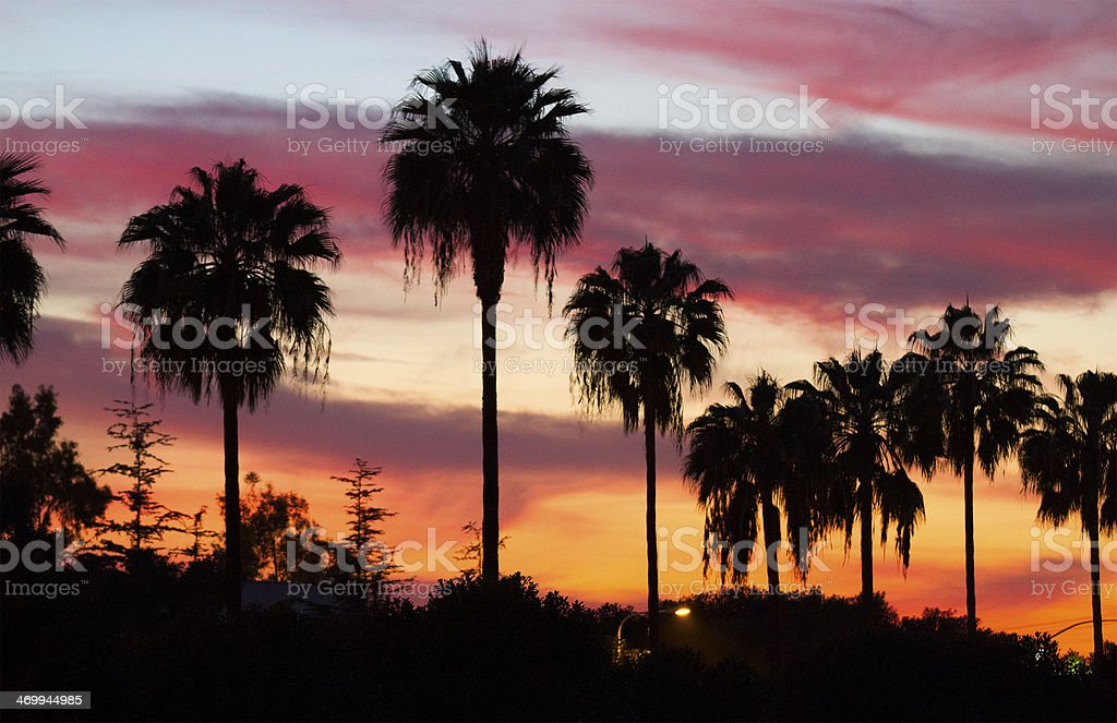 OC Sunset stock photo