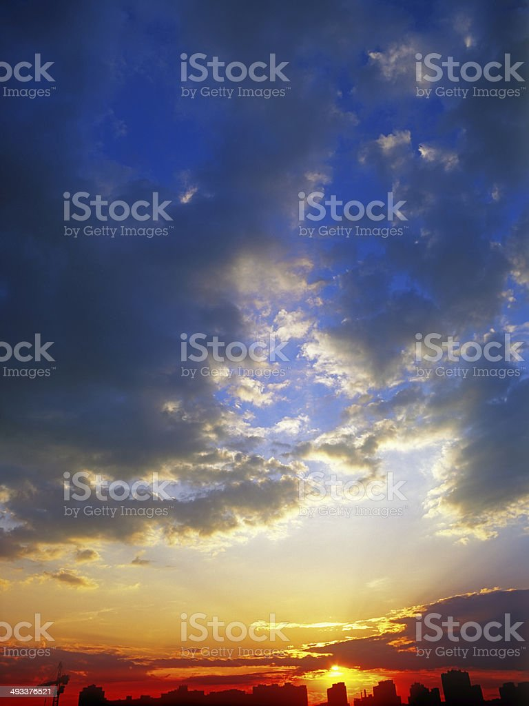 Sunset. royalty-free stock photo