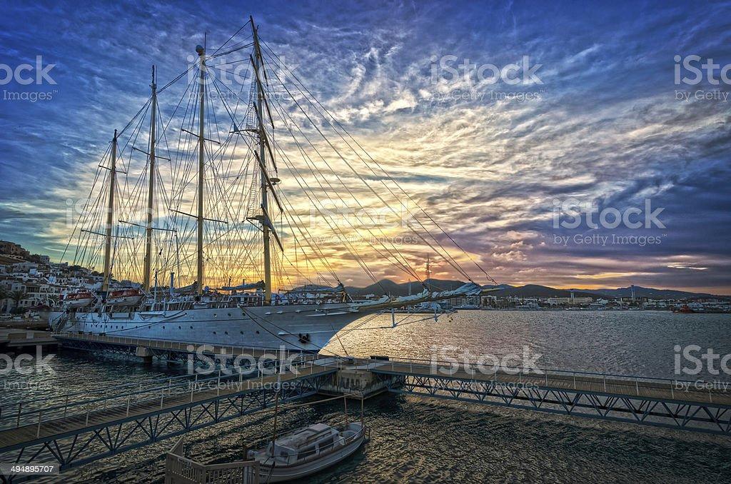 HDR Sunset stock photo