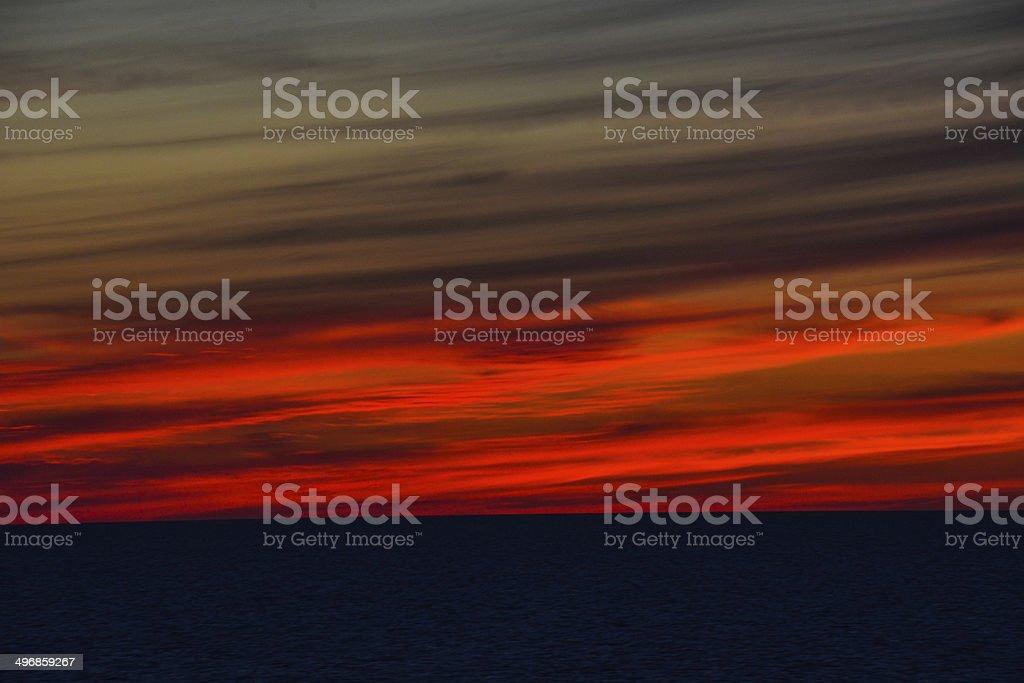 Bei Sonnenuntergang Lizenzfreies stock-foto