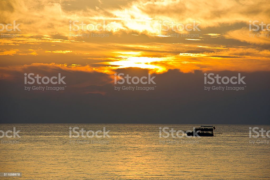 Sunset stock photo