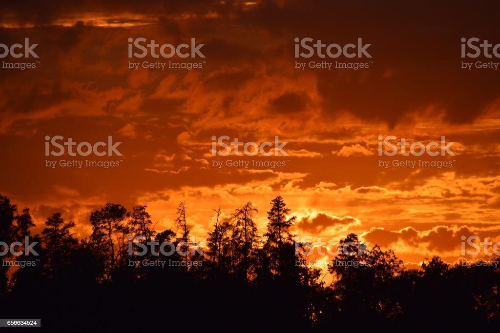 BWCA Sunset stock photo