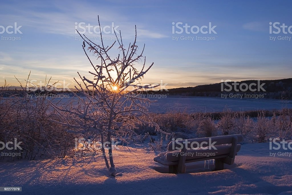 FROZEN: sunset royalty-free stock photo