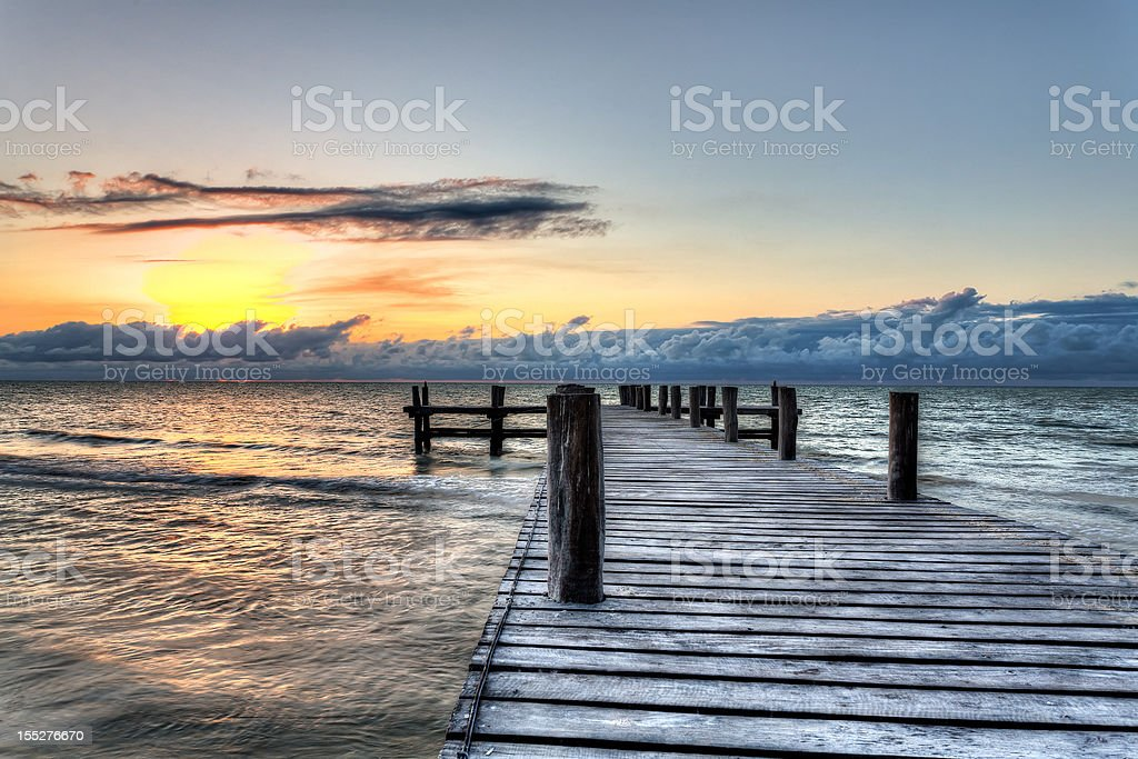 Sunset Pier royalty-free stock photo