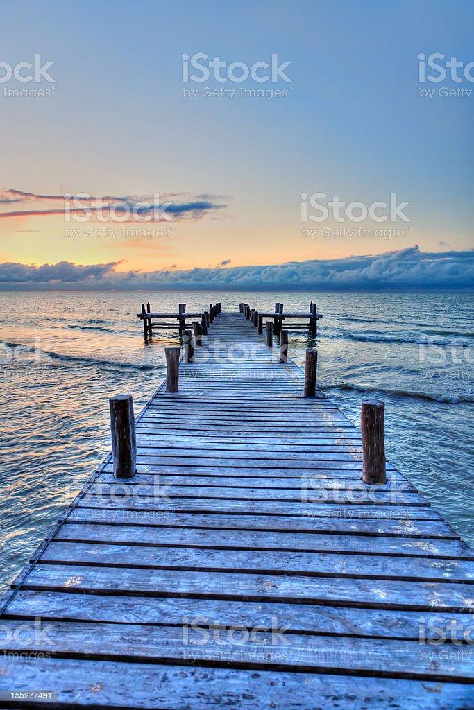 Sunset Pier royalty-free stock photo