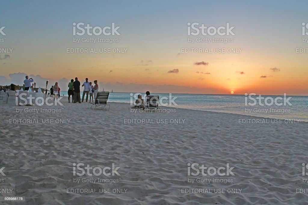 Sunset Pleasure stock photo