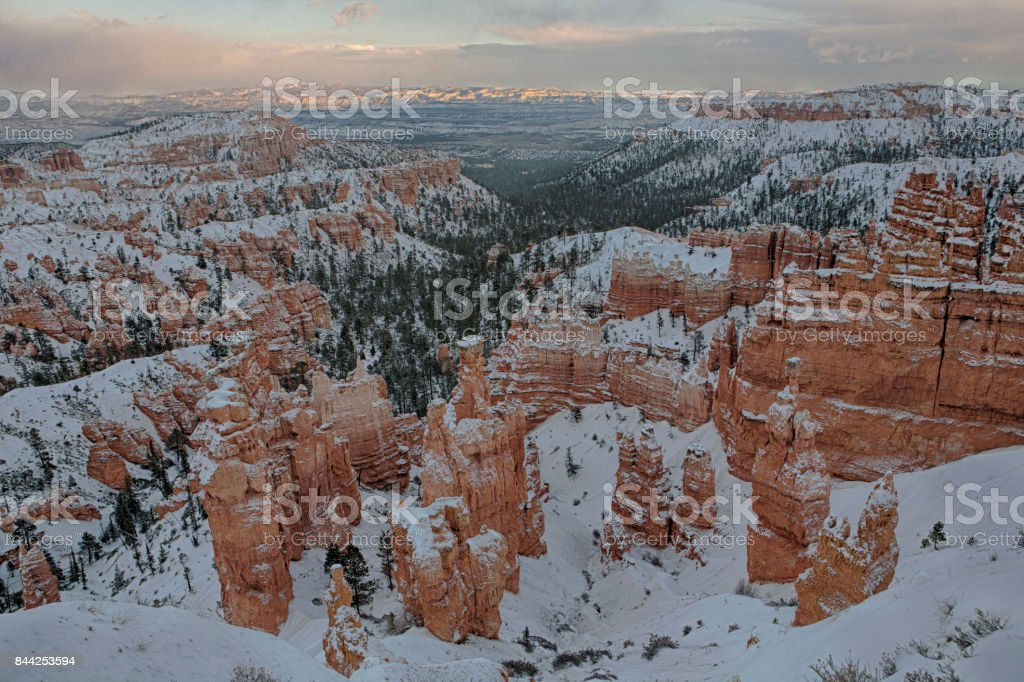 Sunset point of Bryce Canyon National Park stock photo