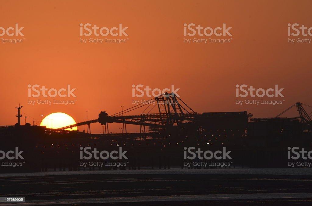 Sunset, Port Hedland, West Australia stock photo
