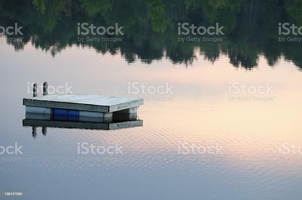 Sunset Raft stock photo