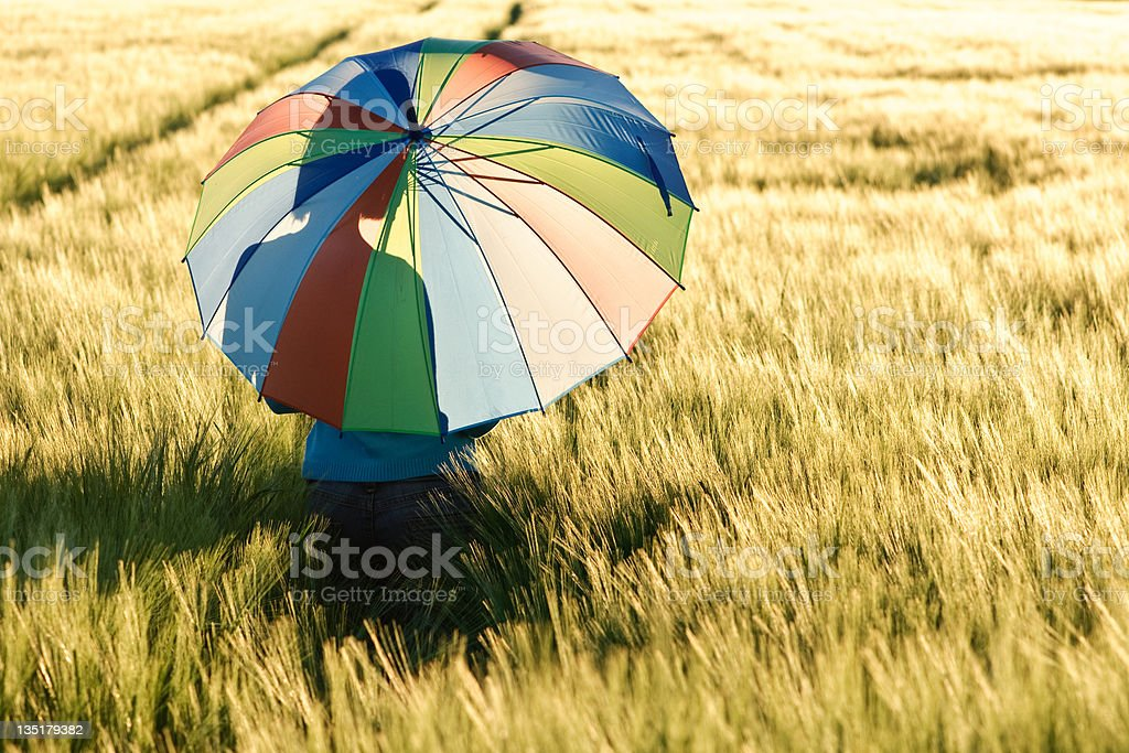 Sunset rainbow royalty-free stock photo