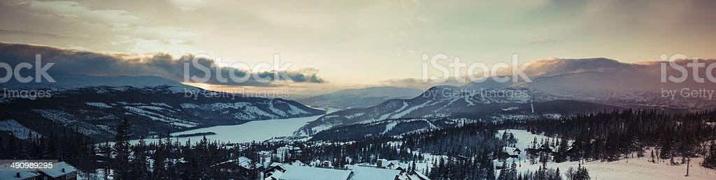 Sunset Åre Mountain Sweden Mountain Landscape royalty-free stock photo