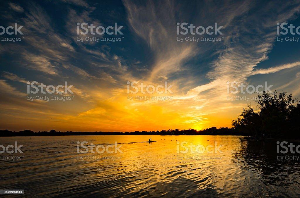Sunset Reflection 2 stock photo