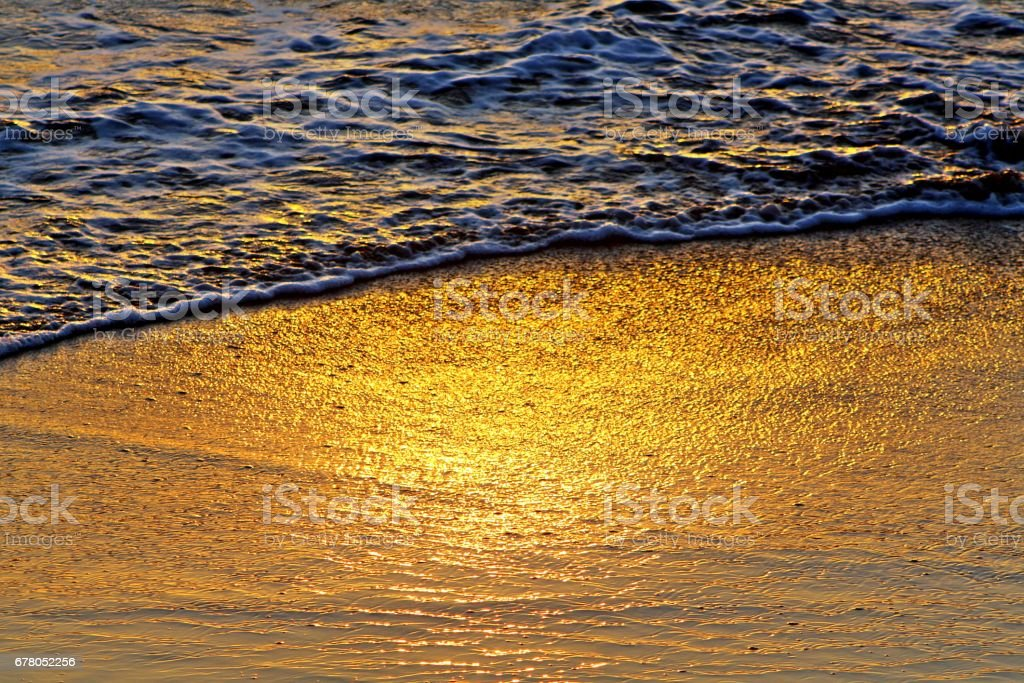 sunset reflection stock photo