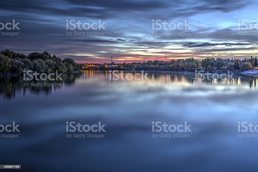 Sunset Reflections stock photo