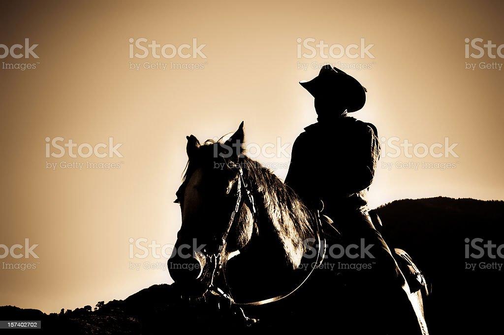 Sunset Rider stock photo
