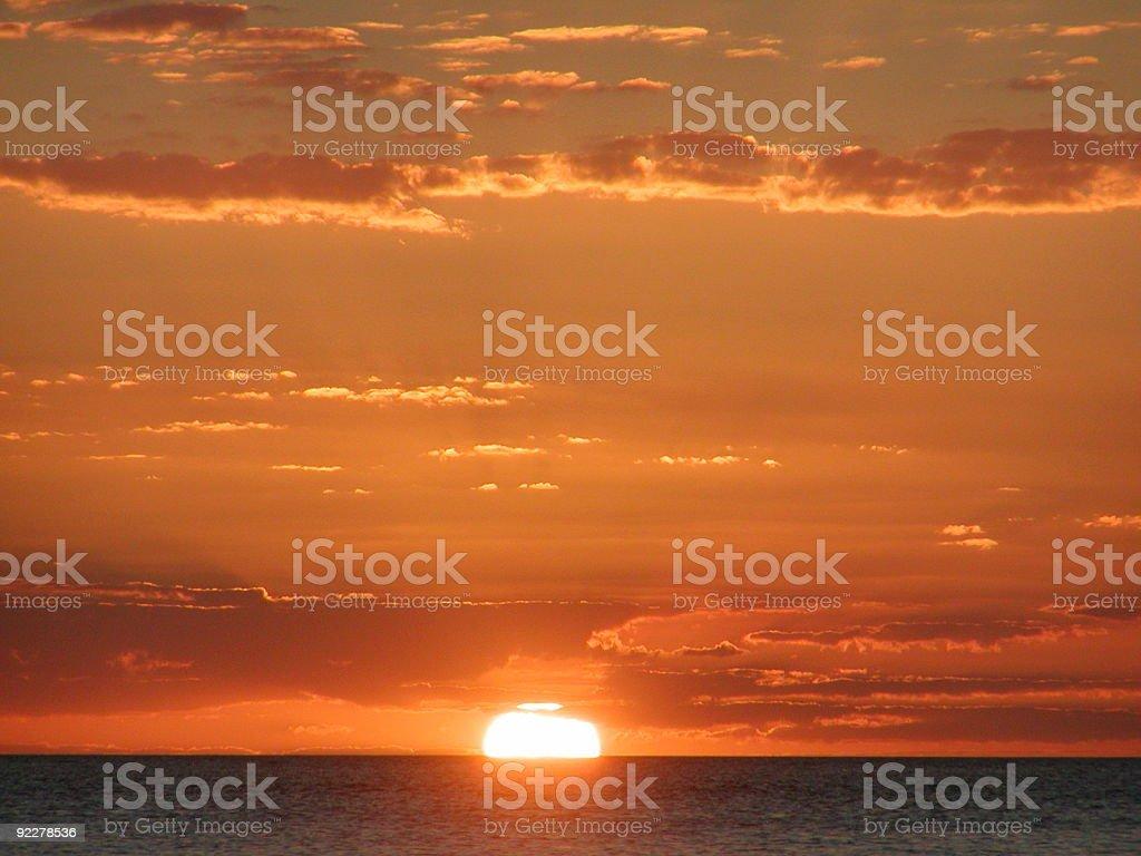 Sunset, Rio de la Plata stock photo