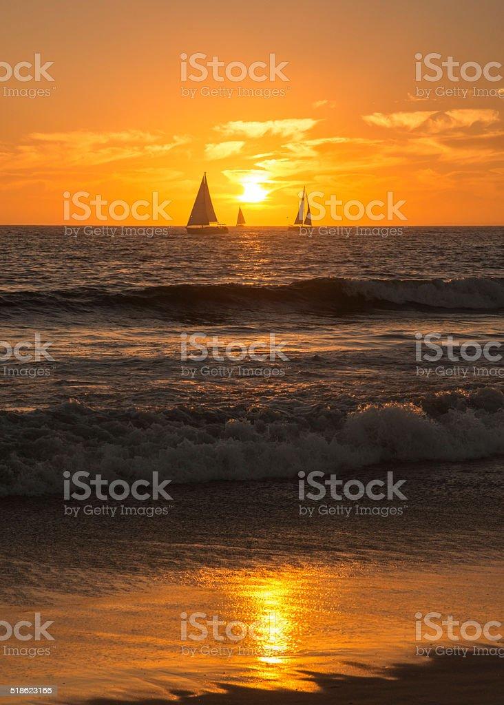 Sunset sail at Venice Beach royalty-free stock photo