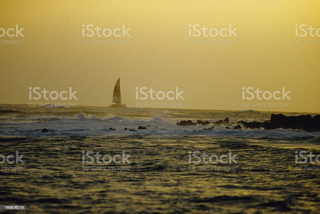 Sunset Sail royalty-free stock photo