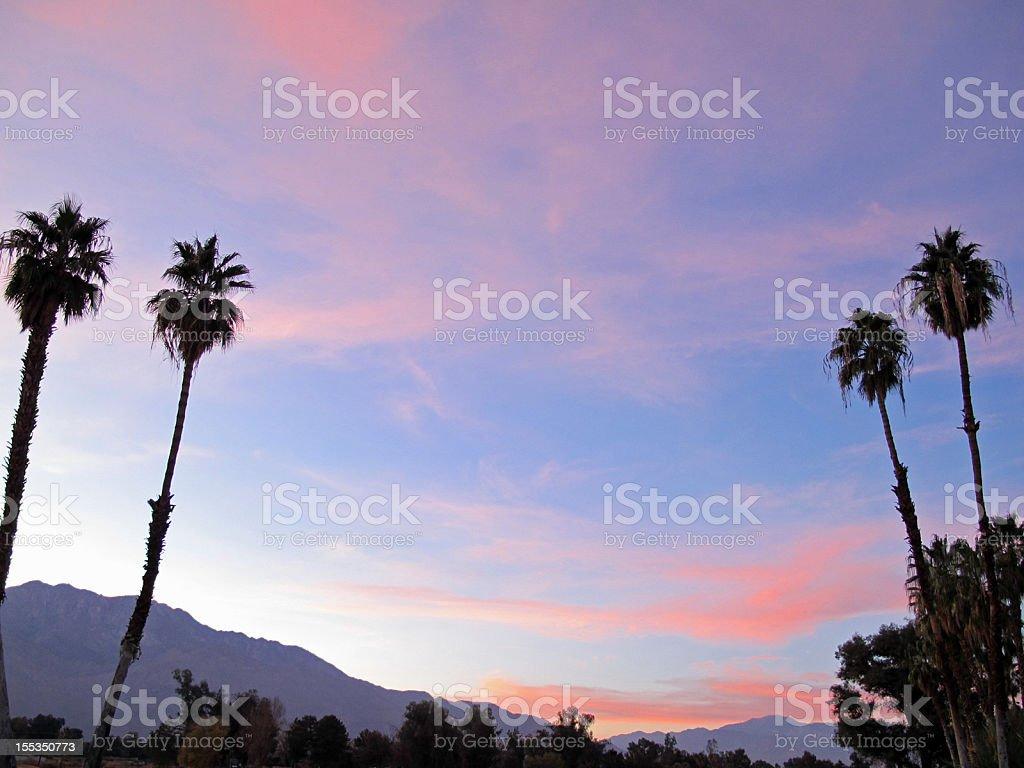 Sunset San Jacinto Mountain Palm Springs royalty-free stock photo