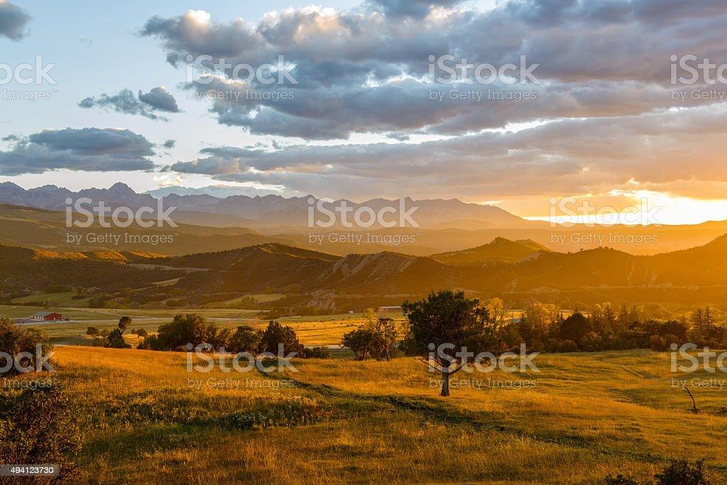 Sunset San Juans stock photo