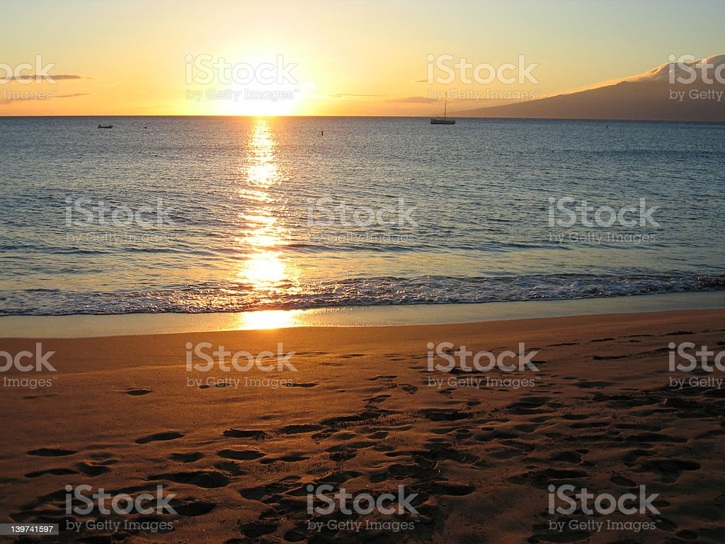 Sunset Sand stock photo