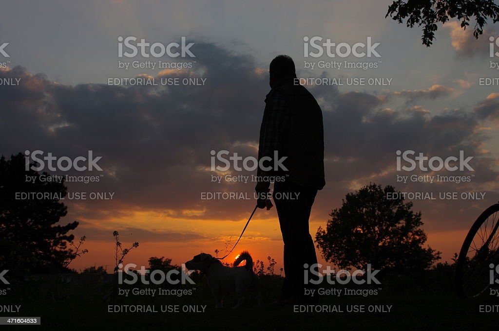 Sunset scene in the country stock photo