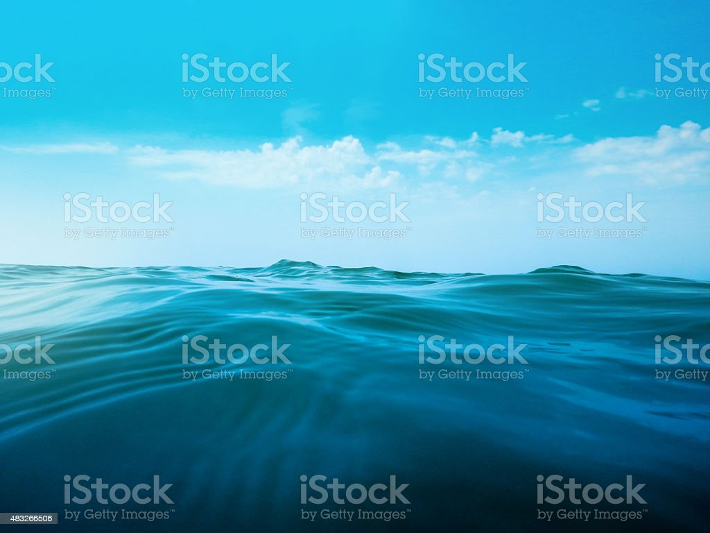 sunset sea waves stock photo