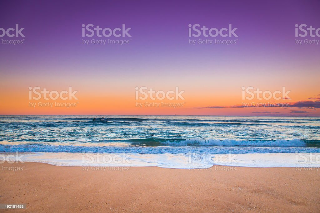 Sunset Seascape view. stock photo
