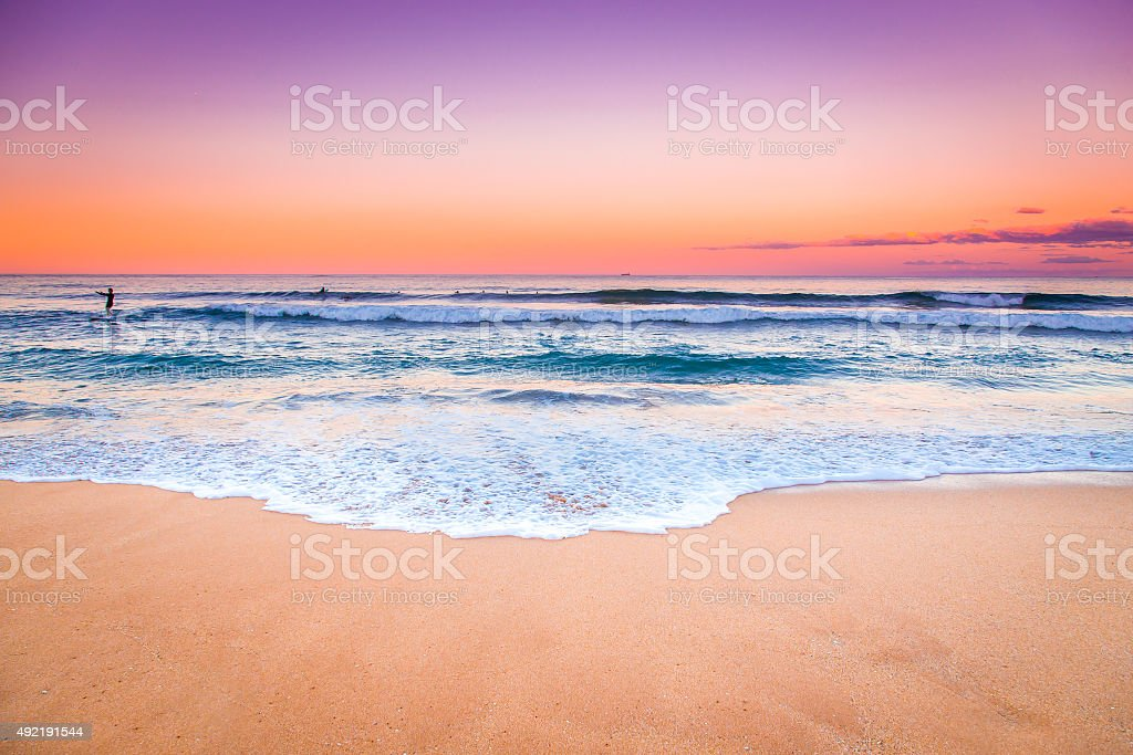 Sunset Seascape view. stock photo