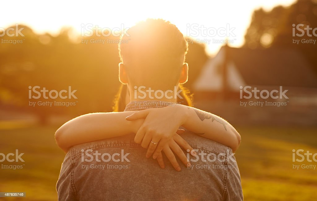 Sunset sentiment stock photo