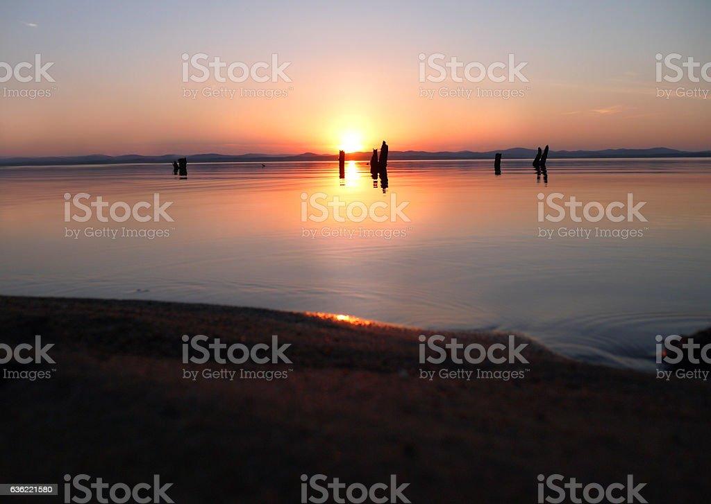 sunset serenity stock photo
