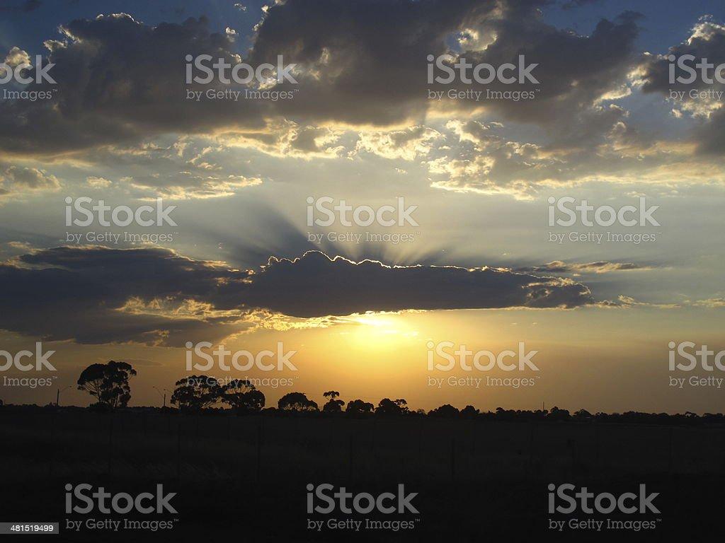 Sunset & shadows royalty-free stock photo