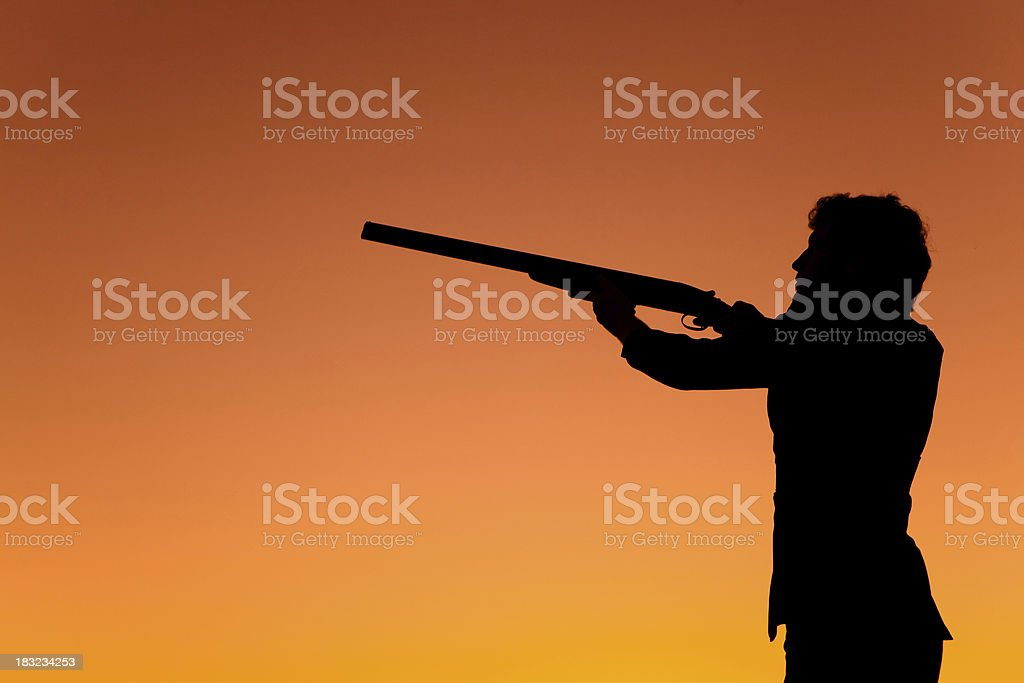 Sunset shooter royalty-free stock photo