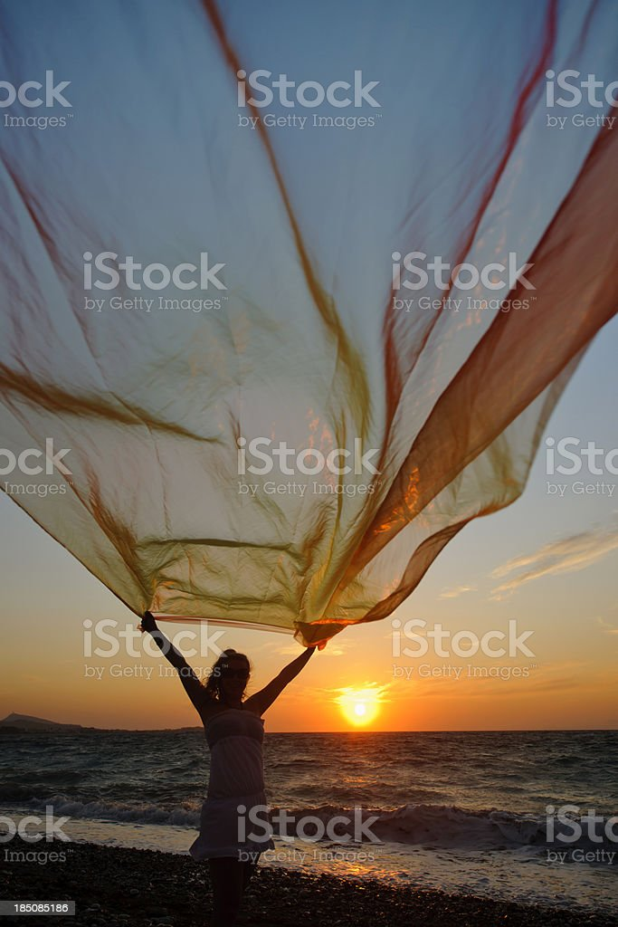 sunset sihouette royalty-free stock photo